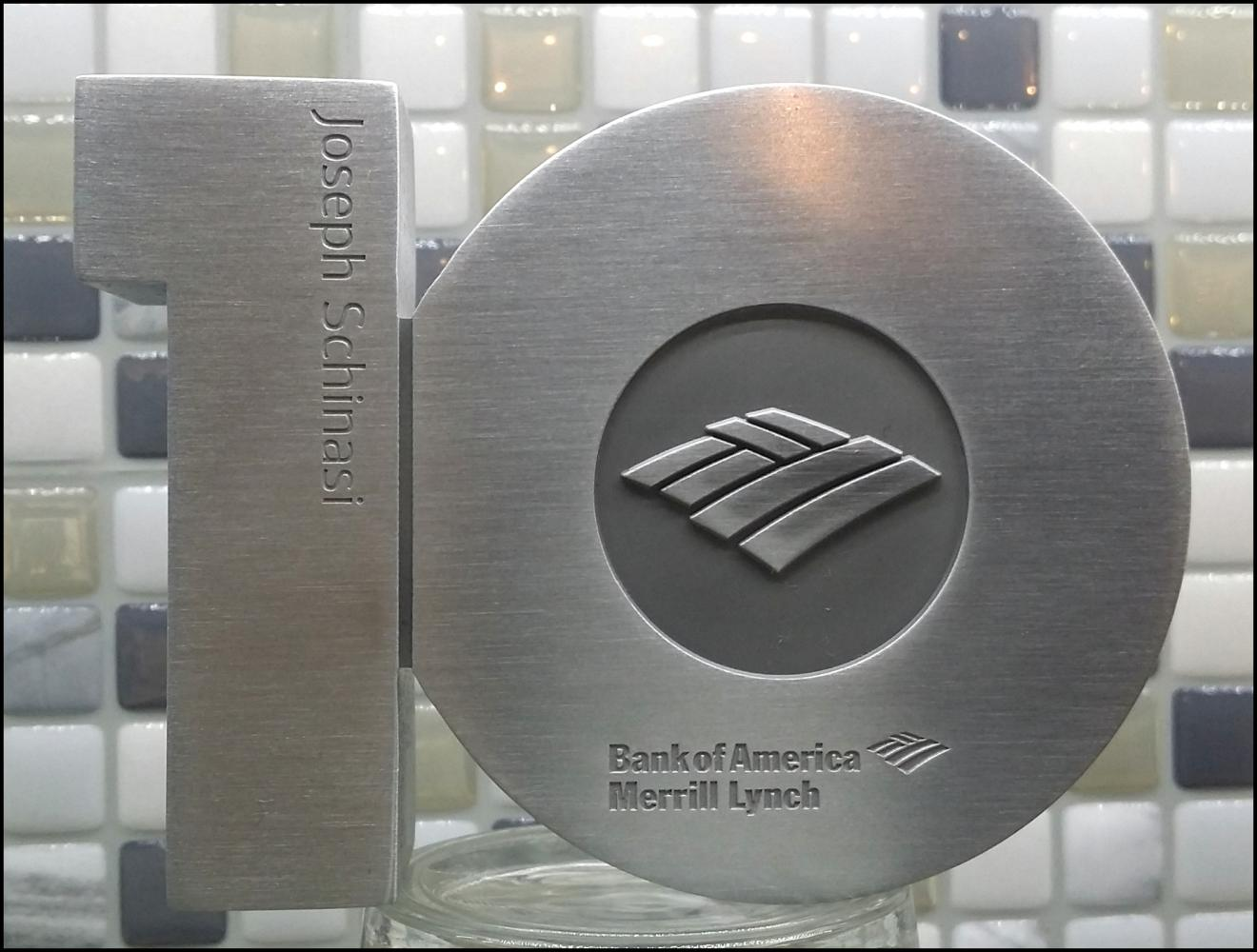 Bank of America - 10 Years of Services