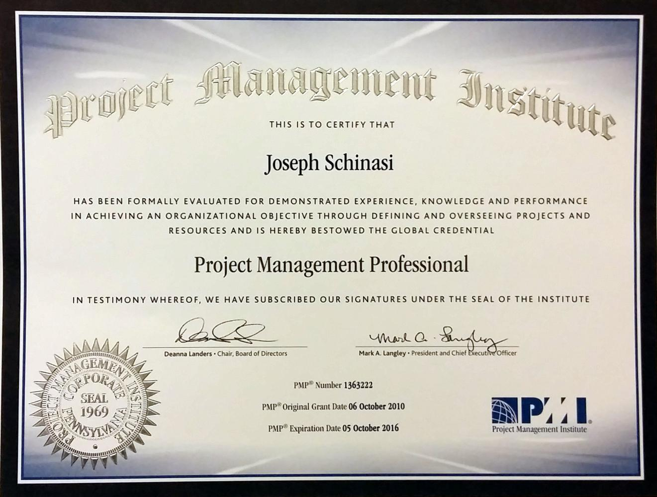 Project Manager Professional Certification